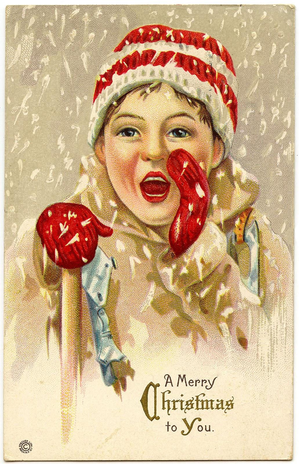 ChristmasSnowBoyVintage GraphicsFairy1 ChristmasMistletoe Vintage Christmas Clipart Graphicsfairy009b ChristmasCatVintageGraphicsFairy1