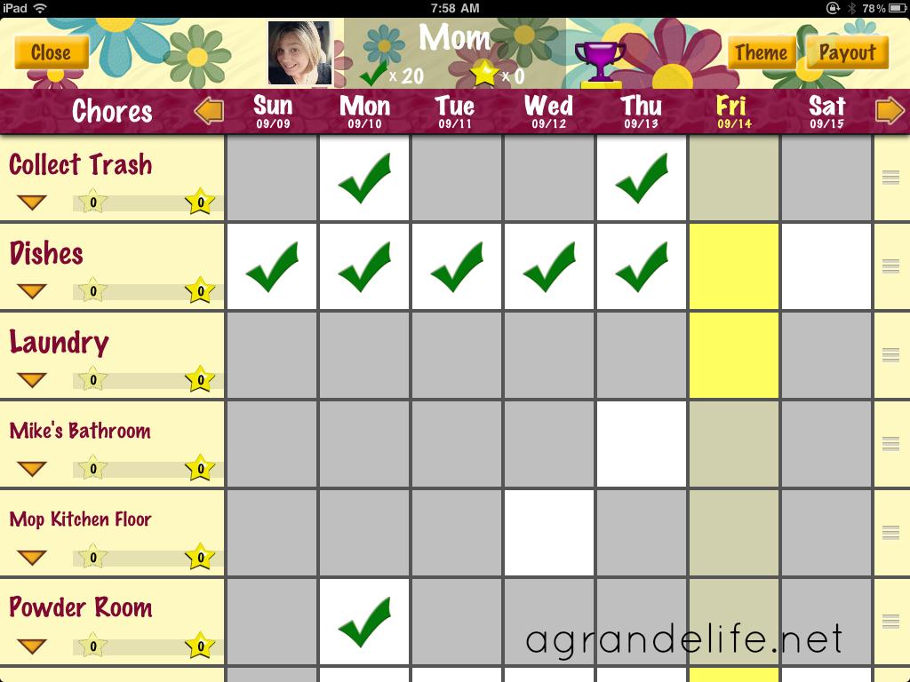 chore calendar app