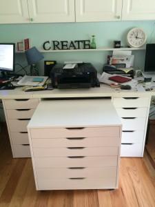 printer shelf